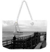 Sailing By The Old Pier Weekender Tote Bag