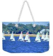 Sailing Charleston Harbor Weekender Tote Bag