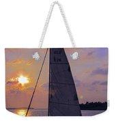 Sailing Home Sunset In Key West Weekender Tote Bag