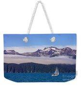 Sailing In Alaska Weekender Tote Bag