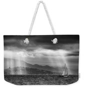 Sailing In Black And White Weekender Tote Bag