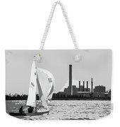 Sailing In Black And White Weekender Tote Bag