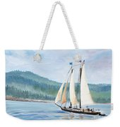 Sailing Into Castine Harbor Weekender Tote Bag