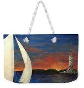Sailing Liberty Weekender Tote Bag