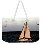 Sailing Off Of Diamond Head Weekender Tote Bag