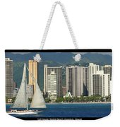Sailing Off Waikiki Weekender Tote Bag