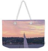Sailing On Puget Sound At Sunset Weekender Tote Bag