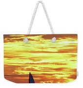 Sailing Past The Sunset Weekender Tote Bag