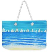 Sailing Regatta White Weekender Tote Bag