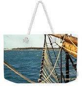 Sailing Ship Prow On The Caribbean Weekender Tote Bag