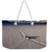 Sailing Stones Collide On The Racetrack Playa  Weekender Tote Bag