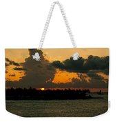 Sailing The Keys At Sunset Weekender Tote Bag
