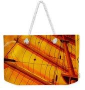 Sailing Through Gold Weekender Tote Bag