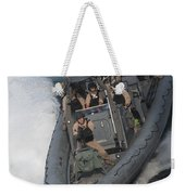 Sailors Operate A Rigid-hull Inflatable Weekender Tote Bag