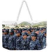 Sailors Yell Before An All-hands Call Weekender Tote Bag by Stocktrek Images