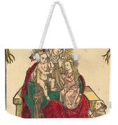 Saint Anne, The Madonna And Child, And A Franciscan Monk Weekender Tote Bag