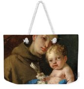 Saint Anthony Of Padua And The Infant Christ Weekender Tote Bag