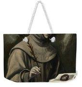 Saint Anthony Of Padua Weekender Tote Bag