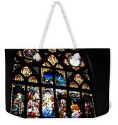 Saint Augustine Stained Glass Weekender Tote Bag