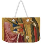 Saint Catherine And A Bishop Saint Possibly Saint Regulus Weekender Tote Bag