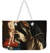 Saint Catherine Of Siena Receiving The Crown Of Thorns From The Christ Child Weekender Tote Bag