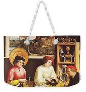 Saint Eligius In His Workshop Weekender Tote Bag