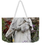Saint Francis Statue In Carmel Mission Garden Weekender Tote Bag