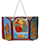 Saint Francis Tryptich Opened Weekender Tote Bag