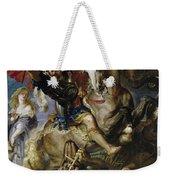 Saint George Battles The Dragon Weekender Tote Bag