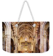 Saint Isidore - Romanesque Temple Altar And Vault - Vintage Version Weekender Tote Bag