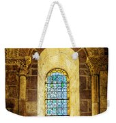 Saint Isidore - Romanesque Window With Stained Glass - Vintage Version Weekender Tote Bag