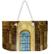 Saint Isidore - Romanesque Window With Stained Glass Weekender Tote Bag
