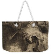 Saint Jerome In An Italian Landscape Weekender Tote Bag