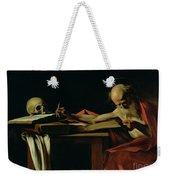 Saint Jerome Writing Weekender Tote Bag