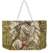 Saint John On The Island Of Patmos Receives Inspiration From God To Create The Apocalypse Weekender Tote Bag