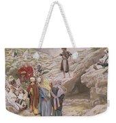 Saint John The Baptist And The Pharisees Weekender Tote Bag by Tissot
