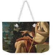 Saint John The Baptist In A Landscape Weekender Tote Bag