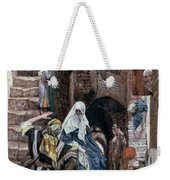 Saint Joseph Seeks Lodging In Bethlehem Weekender Tote Bag