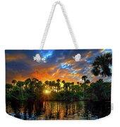 Saint Lucie River Sunset Weekender Tote Bag