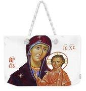 Saint Mary With Baby Jesus Weekender Tote Bag