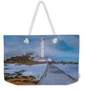 Saint Mary's Lighthouse Weekender Tote Bag