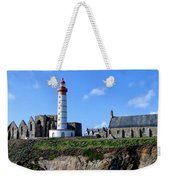 Saint-mathieu Lighthouse And The Ruins Of The Abbey Of Saintlmat Weekender Tote Bag