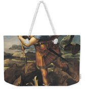 Saint Michael Overwhelming The Demon Weekender Tote Bag