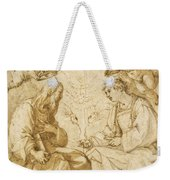 Saint Paul And Saint Stephen Crowned By Angels Weekender Tote Bag