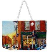 Saint Viareur And Park Avenue Bagel Shop Weekender Tote Bag