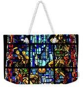 Sainte-mere-eglise Paratrooper Tribute Stained Glass Window Weekender Tote Bag
