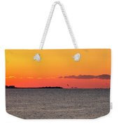 Sakonnet Point Sunrise And Lighthouse Weekender Tote Bag