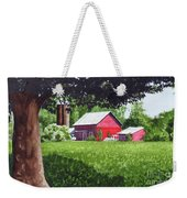 Salem County Farm, Framed Weekender Tote Bag