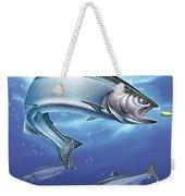 Salmon Painting Weekender Tote Bag
