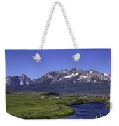 Salmon River And Sawtooth Mountains Weekender Tote Bag